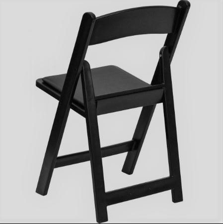 black wooden folding chairs 1