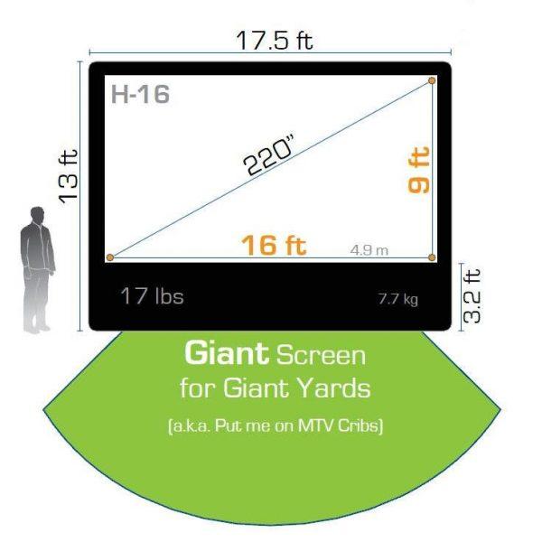 Movie Screen Premium - 9′ x 16′ Inflatable Screen - Pic 3 - Chicagoland Event Rentals - Wheaton - www.ChicagolandEventRentals.com