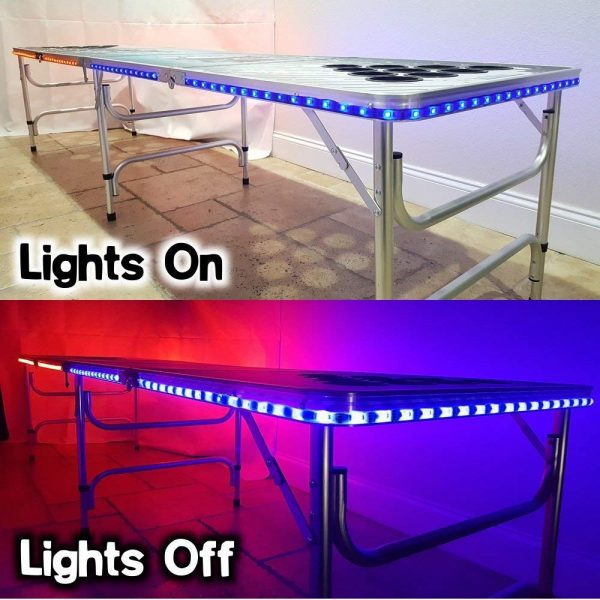 Professional Beer Pong Table w LED Glow Lights - USA Edition - Pic 4 - Chicagoland Event Rentals Wheaton