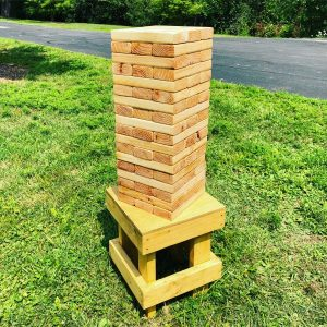 Giant Jenga - Natural Wood - Chicagoland Event Rentals - Wheaton - www.ChicagolandEventRentals.com