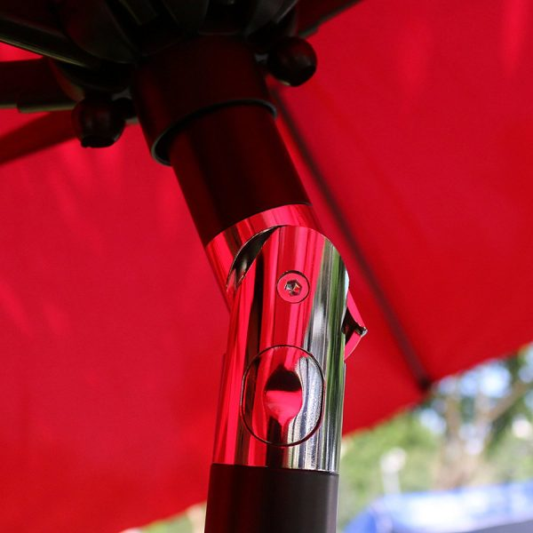 Table Umbrella - Red - Pic 2 - Chicagoland Event Rentals - Wheaton - www.ChicagolandEventRentals.com