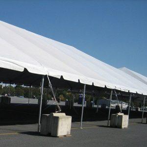 Partial Grass and Partial Tent Concrete Blocks - 30 x 150 Tent