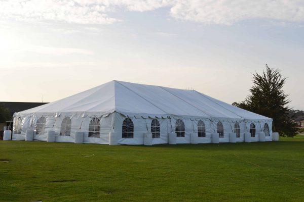 Partial Grass and Partial Water Barrels - 30 x 150 Tent