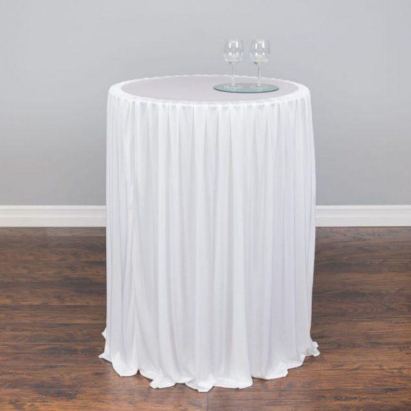 Highboy Linens White - Table Rental