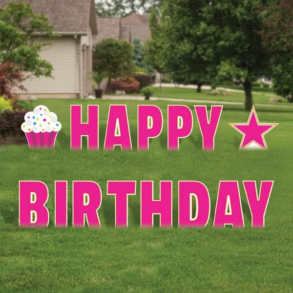 Birthday Sign - Hot Pink