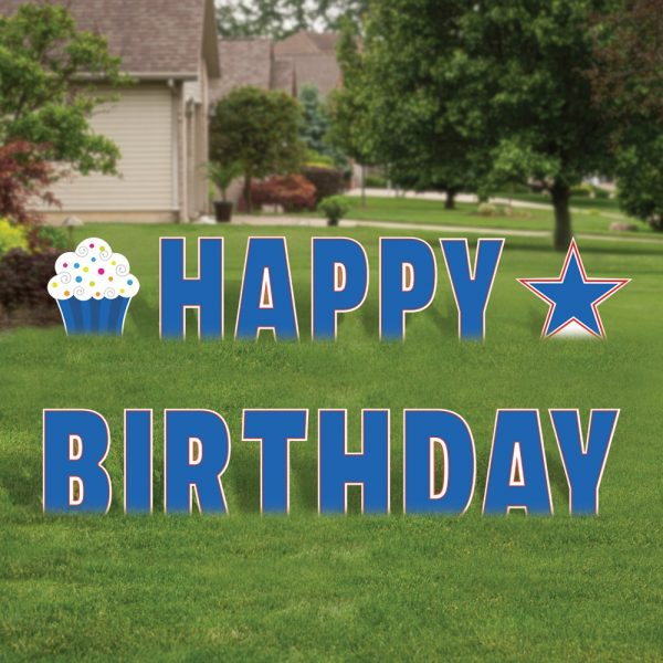 Birthday Sign - Blue